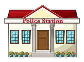 A police station — Vector de stock