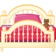 A bed of a child — Stock Vector #18035765