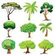 Various trees — Vector de stock #18035775