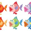 Royalty-Free Stock Vector Image: Smiling fishes