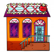 A cathouse - Stock Vector