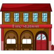 Stock Vector: Fire station