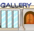 A gallery  — Stock Vector