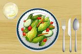A garnished salad — Stock Vector