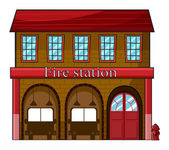 A fire station — Stock Vector