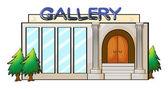 A gallery — Stock Vector