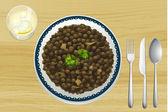 Ethiopian food — Stock Vector
