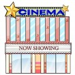 Royalty-Free Stock Vector Image: A cinema theater building