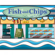 Royalty-Free Stock Vector Image: A fish and chips shop