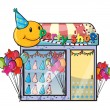 A party shop - Stock Vector