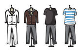 Various garments of male — Stock Vector