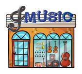 A music store — Stock Vector