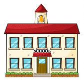 A school building — Stock Vector