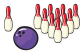 Bowling sport accessories — Stock Vector