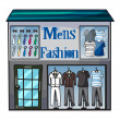 Stock Vector: Mens fasion shop