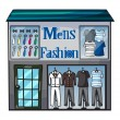 Mens fasion shop - Stock Vector