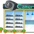 Camera shop — Stock Vector