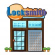 Stock Vector: Locksmith shop