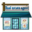 Real estate agent's office - Stock Vector