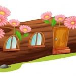 A wood house — Stock Vector