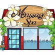 A massage spa — Stock Vector
