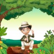 Royalty-Free Stock Vector Image: A boy in nature