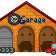 Stock Vector: Garage shop
