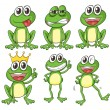 Stock Vector: Green frogs