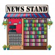 A news paper shop — Stock Vector