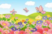 A flying butterflies — Stock Vector