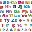 Stockvector : Alphabets and numbers