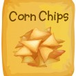 A packet of corn chips — Stock Vector