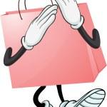 A pink bag — Stock Vector #18247341