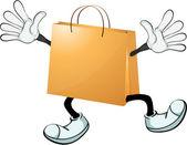 A yellow bag — Stock Vector