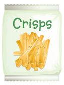 A packet of frech fries — Stock Vector