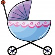 A baby buggy — Stock Vector