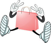 A pink bag — Stock Vector