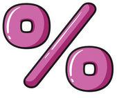 A percentage symbol — Stock Vector