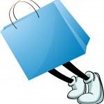 en blå väska — Stockvektor