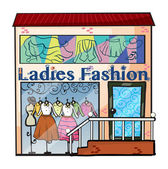 A ladies fashion store — Stock Vector