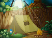 A camping tent — Stock Vector