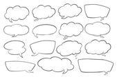 Varie forme di bolle di discorso — Vettoriale Stock