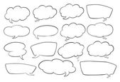 Various shapes of speech bubbles — Cтоковый вектор