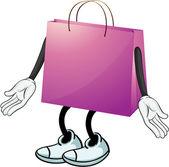 Фиолетовый сумка — Cтоковый вектор