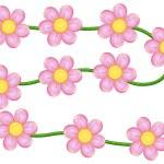 Vine flowers — Stock Vector