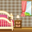 Royalty-Free Stock Vectorafbeeldingen: Bed and window