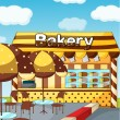 A bakery store - Stock Vector