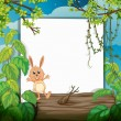 A rabbit on a trunk - Stock Vector