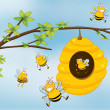 Royalty-Free Stock Vectorielle: Honey Bee