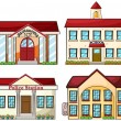 Stock Vector: Useful buildings